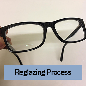 our glasses reglazing process
