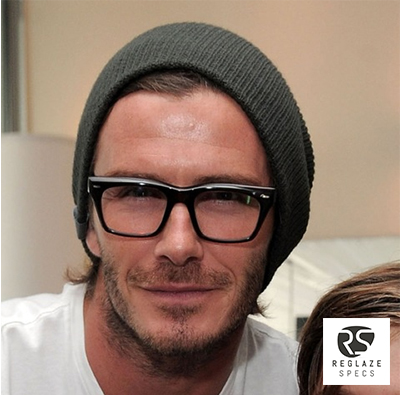 david beckham ray ban glasses