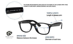 glasses frame measurements